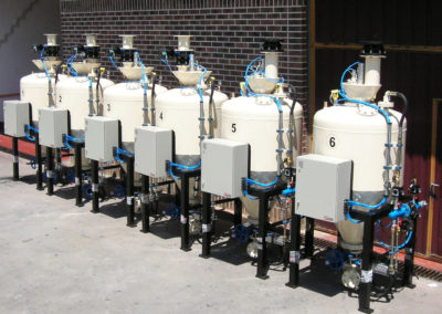500 L pneumatic conveyors for raw materials in the ceramic industry