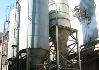 Instalación de silos de cal y cock exteriores