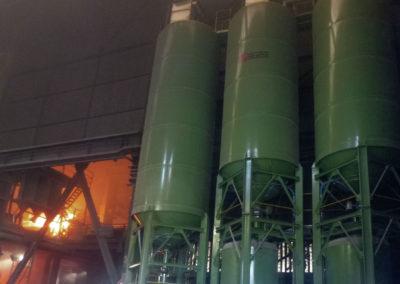 Instalación de silos de cal y cock interiores